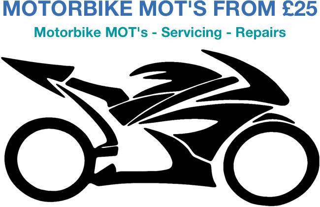 Motorbike MOT's from £25